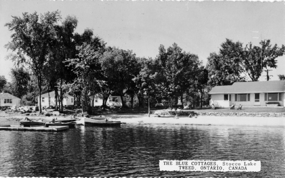 Blue Cottages at 'Stocco' Lake 1950s