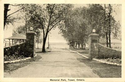Memorial Park Gate, Tweed Ont.